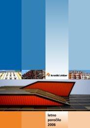 Letno poročilo 2006 - Kraški zidar dd