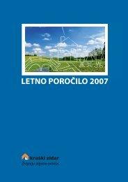 LETNO POROČILO 2007 - Kraški zidar dd