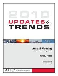 IREC's 2010 Updates & Trends Report - Interstate Renewable ...