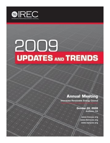 2009 Updates and Trends - Interstate Renewable Energy Council