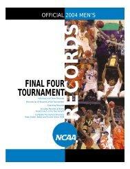 2004 NCAA Final Four Tournament Records Book
