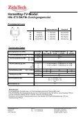 HomeWay-TV-Modul HW–ET3 BK/FM - ZidaTech AG - Seite 2