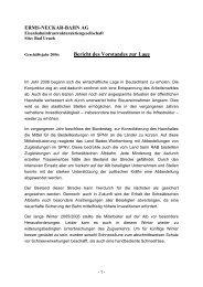 Bericht des Vorstandes zur Lage - Erms-Neckar-Bahn AG