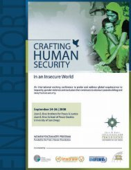 Crafting Human Security in an Insecure World - Global Justice Center