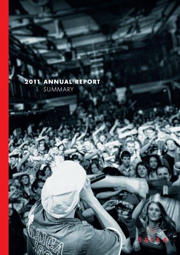 2011 AnnUAl RepoRt Summary - Suisa