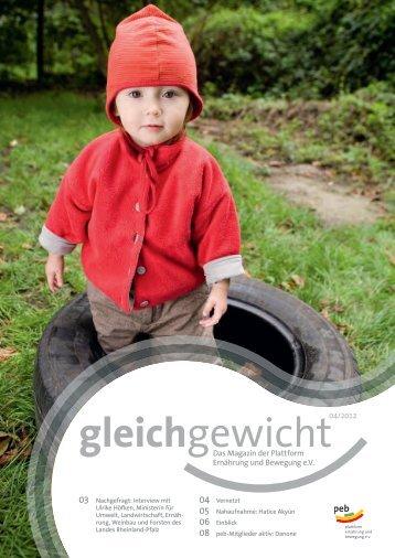 Gleichgewicht 04 2012 - Plattform Ernährung und Bewegung