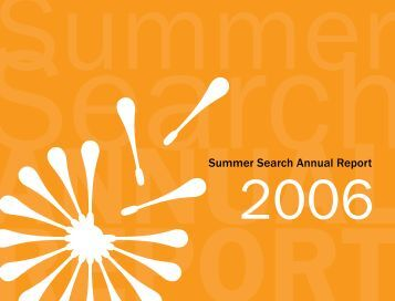 2006 Annual Report - Summer Search