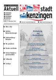 Einladung zur Gedenkfeier - Kenzingen