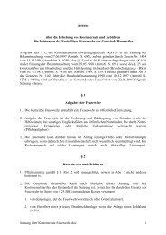 Satzung über die Erhebung von Kostenersatz und Gebühren für ...