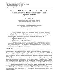 Kinetics and Mechanism of the Reaction of Rosaniline - EuroJournals