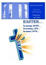 JPC Newsletter April 2012 - John Pierce Centre