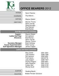 to view 2012 fixture program - Ipswich Golf Club