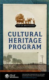 2012 Cultural Heritage Program - City of Whittlesea