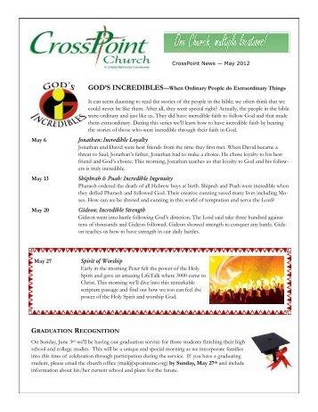May - Crosspoint United Methodist Church