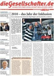 2010 – das Jahr der Inklusion - Die Gesellschafter