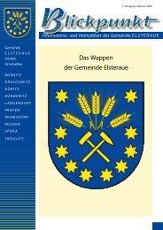 Blickpunkt, Ausgabe 1/2009 - Gemeinde Elsteraue