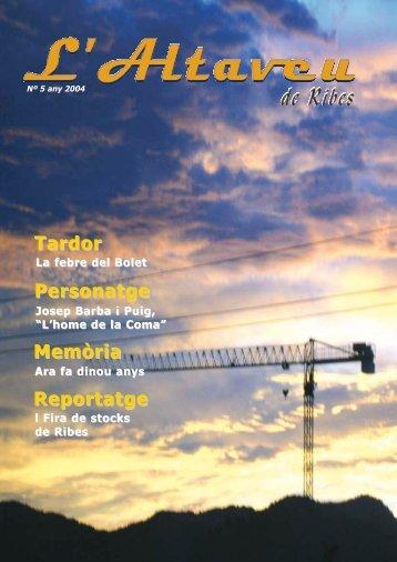 Tardor Memòria Reportatge Personatge - L'Altaveu