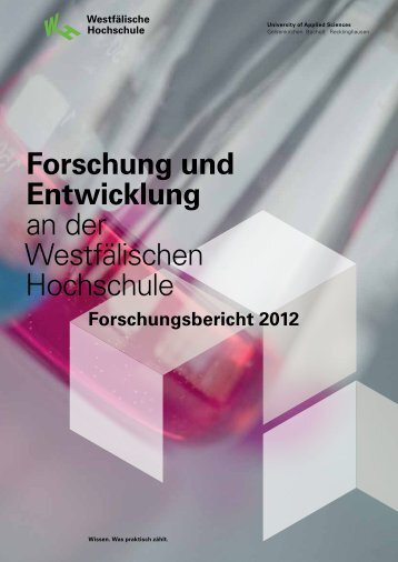 Forschungsbericht 2012 - Forschung/Transfer - Fachhochschule ...