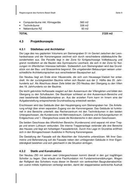 A-ZID Ratschlag - Grosser Rat - Basel-Stadt