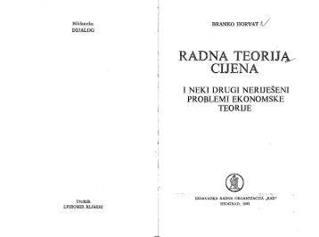 Horvat Branko Radna teorija cijena IRO Rad