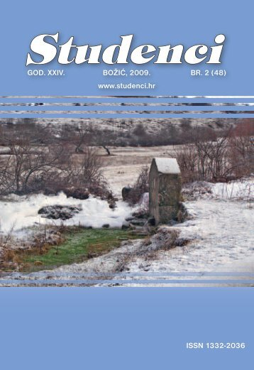 ISSN 1332-2036 GOD. XXIV. BOžIć, 2009. BR. 2 - Franjevačka ...