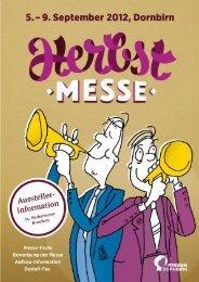 Medien-Kooperationen & Werbetipps - Messe Dornbirn