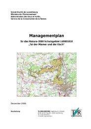 Managementplan für das Natura-2000 Schutzgebiet LU0001018