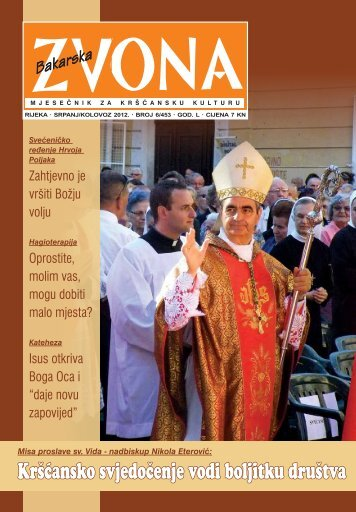 Pogledajte Zvona u PDF obliku - Riječka nadbiskupija