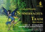 Programmheft Sommernachtstraum 2005 - Erlinsbacher Bühne