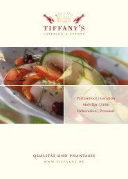 Kalte Buffets - Tiffany`s Catering & Events