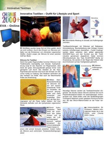 Innovative Textilien - Chemie und ihre Didaktik, Universität Wuppertal