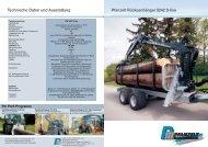 Technische Daten und Ausstattung Pfanzelt Rückeanhänger 9242 S ...