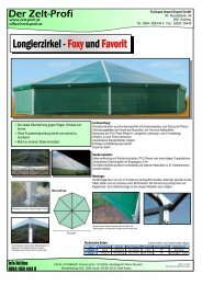 Longierzirkel - Foxy und Favorit - Festzelt vom Zelt-Profi