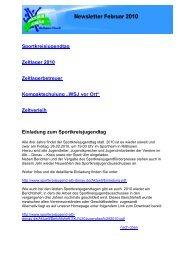 Sportkreisjugendtag Zeltlager 2010 Zeltlagerbetreuer ...