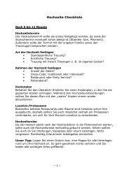 Hochzeits-Checkliste downloaden - Lisa Freundeskreis