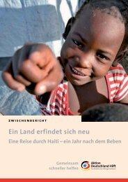 Ein Jahr danach - Aktion Deutschland Hilft