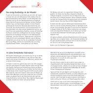 Jahresbericht 2011 Das einzig Beständige ist der Wandel 10 ... - Lilith