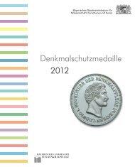 Denkmalschutzmedaille 2012 - Bayerisches Staatsministerium für ...