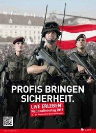 PROFIS BRINGEN SICHERHEIT. - Österreichs Bundesheer