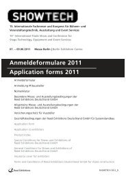 Anmeldeformulare 2011 Application forms 2011