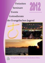 Freizeiten Seminare Events Gottesdienste der Evangelischen Jugend