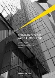Tranzparenzbericht 2009_02 - Ernst & Young
