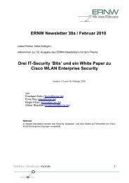 'Bits' und ein White Paper zu Cisco WLAN Enterprise Security - ERNW