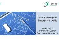 IPv6 Security in LANs - ERNW