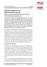 Pressemitteilung Satellitennavigation für die ÖBB-Infrastruktur Bau AG