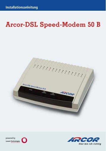 Arcor-Dsl Speed-Modem 50 B