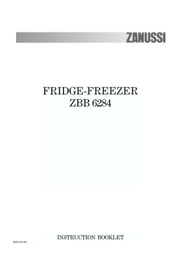 FRIDGE-FREEZER ZBB 6284