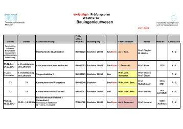 Bauingenieurwesen - Fakultät für Bauingenieur- und ...