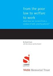 From the Poor Law to Welfare to Work