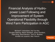 Financial Analysis of Hydro-power Load Following and - Bonneville ...